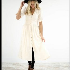 Free People Love of My Life Midi Dress - S